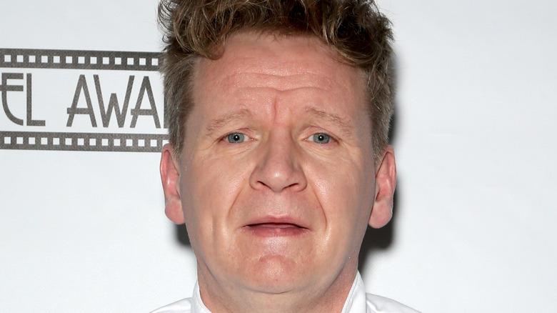 Gordon Ramsay looking peeved