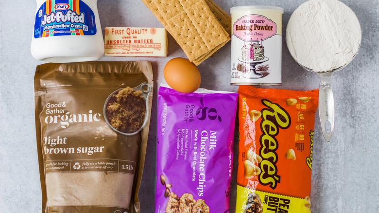 Gourmet S'mores Bars ingredients