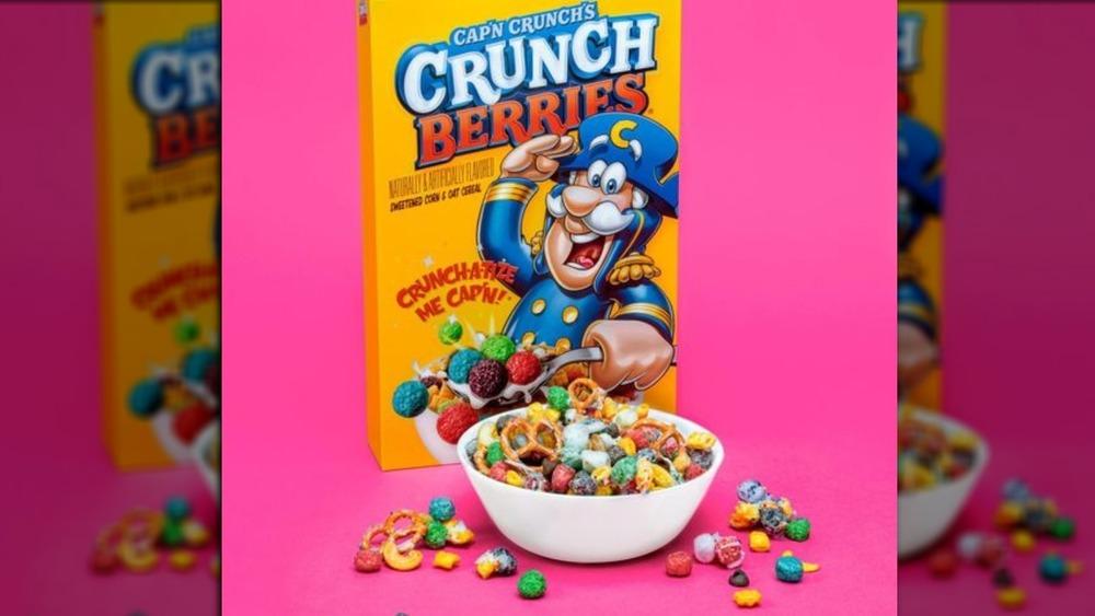 Cap'n Crunch Crunch Berries box and bowl