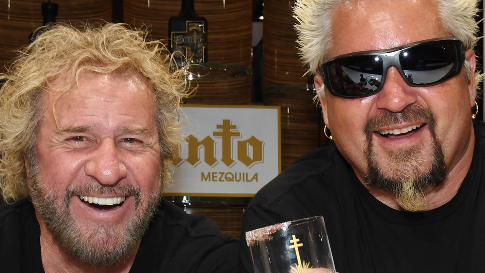 Guy Fieri and Sammy Hagar smiling