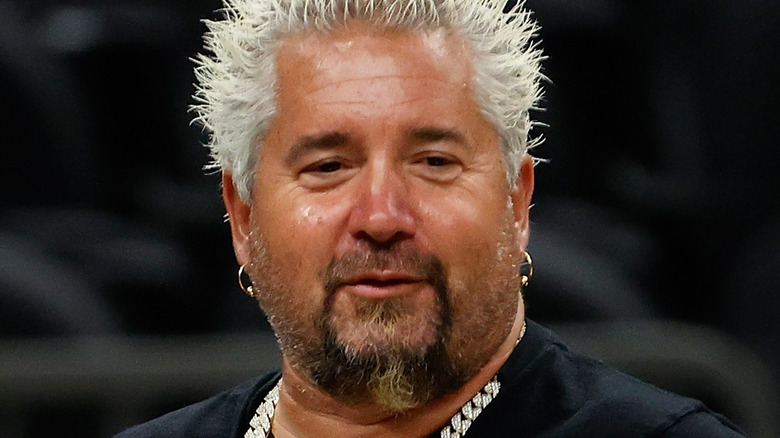 Guy Fieri at sporting event