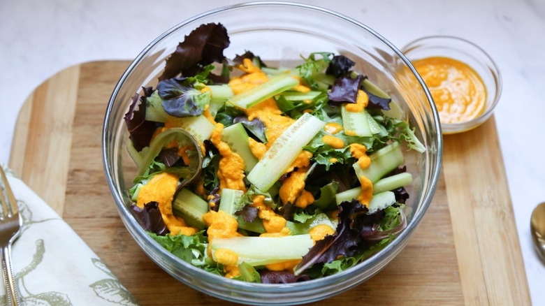 Miso Ginger Salad in a bowl