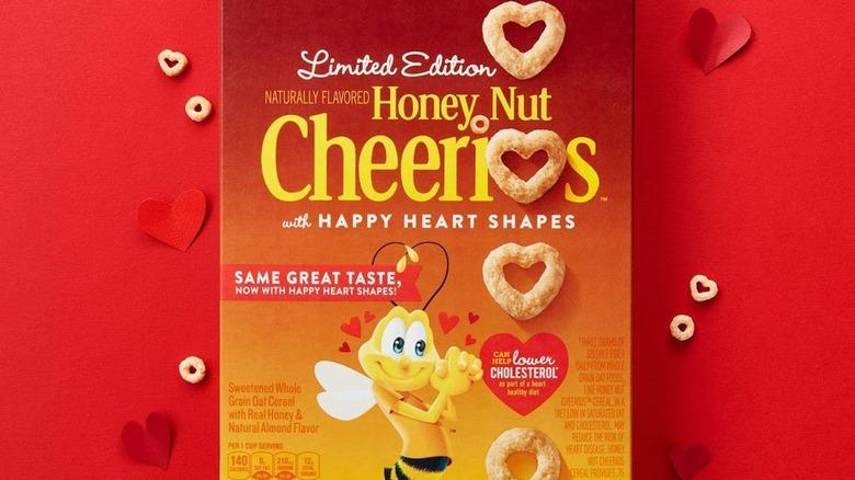 Heart-shaped Cheerios box