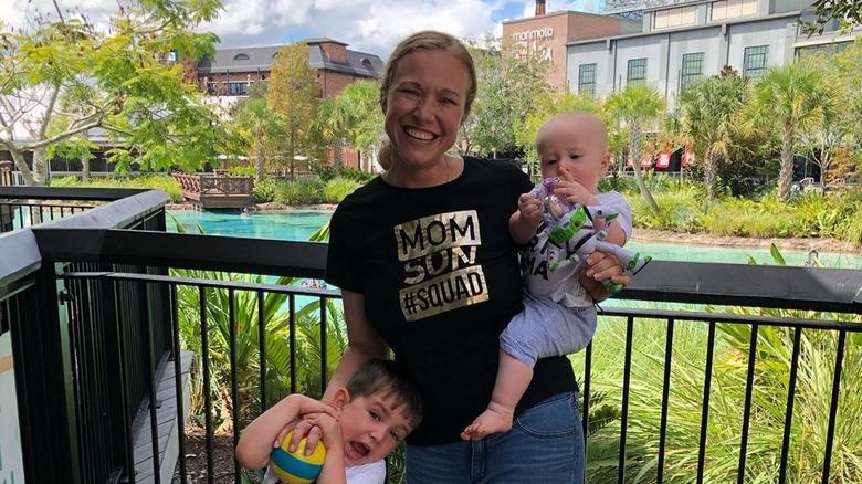 Heather West with children