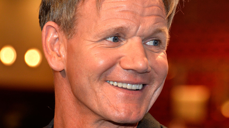 Chef Gordon Ramsay looking to the side