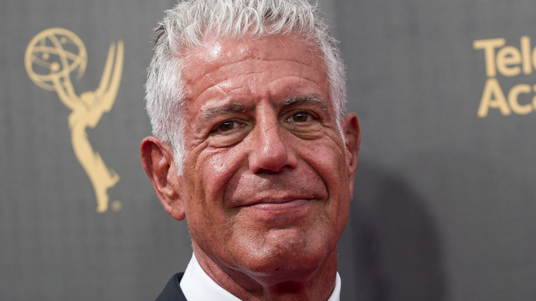 Anthony Bourdain at event