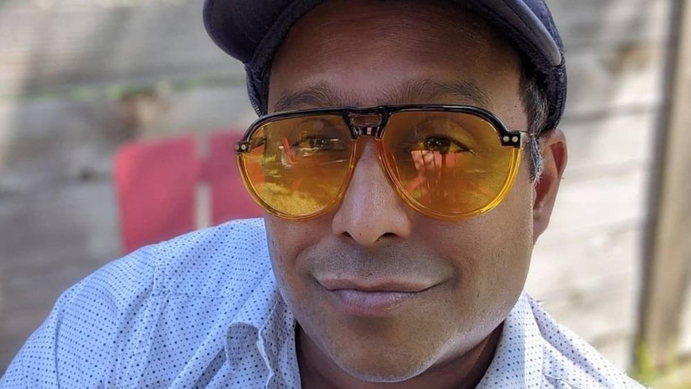Chef Ali Khan wearing sunglasses