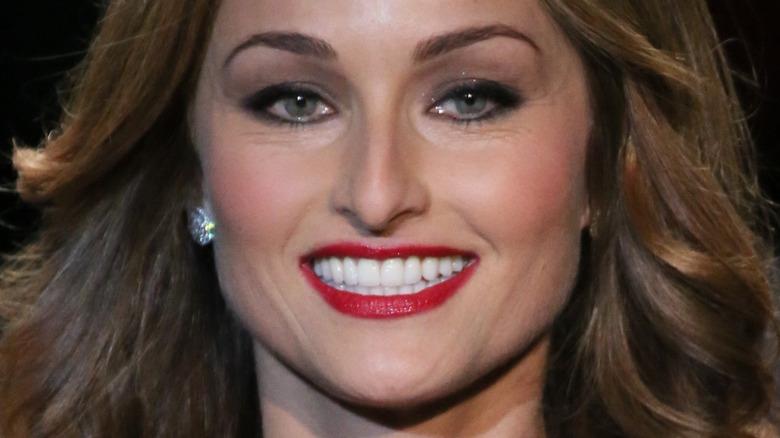 Giada De Laurentiis wearing red lipstick