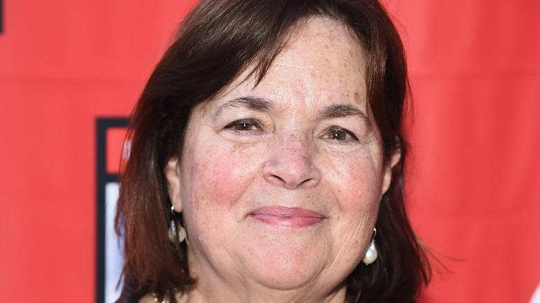 Closeup of Ina Garten wearing earrings