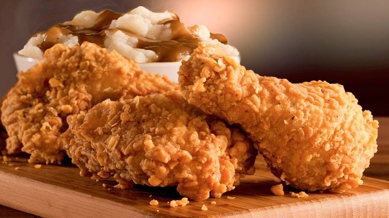 KFC fried chicken with mashed potatoes
