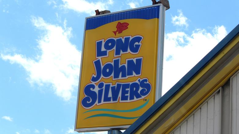 Long John Silver's sign outside restaurant