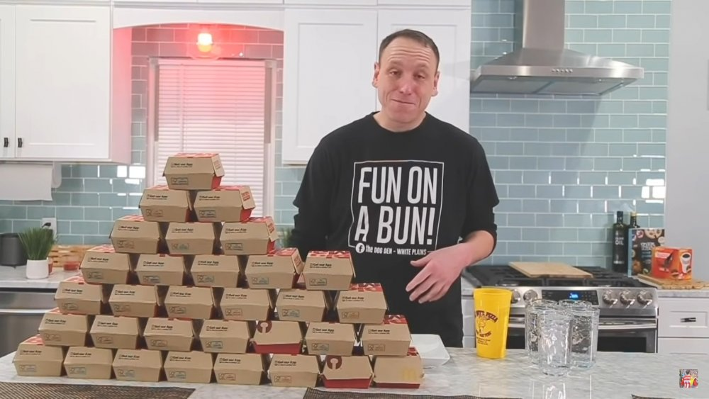 Joey Chestnut with Big Macs