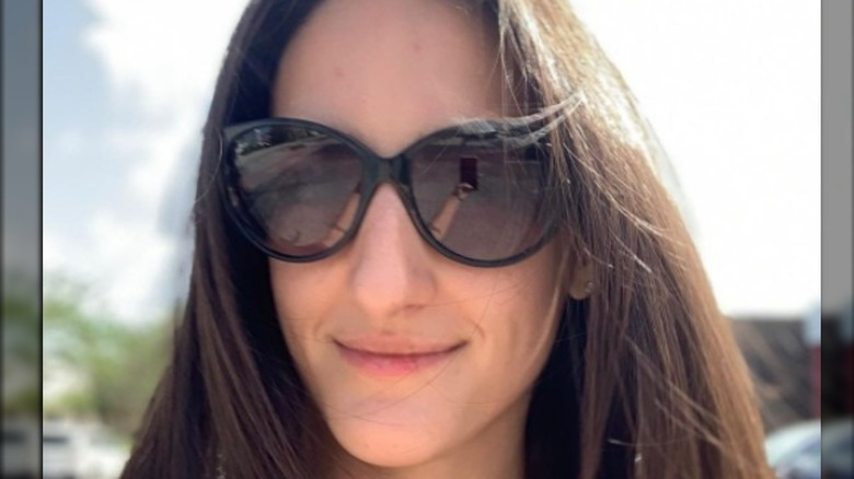 Courtney Lapresi in sunglasses