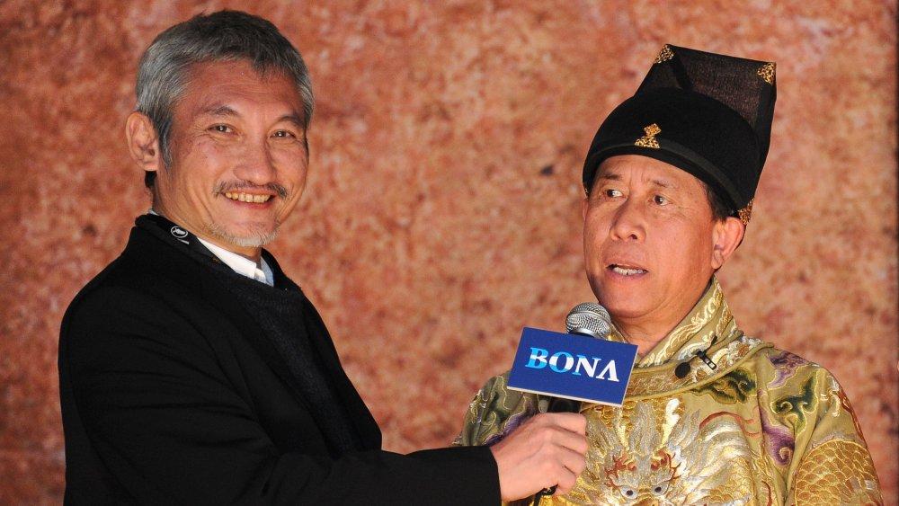 Chef Martin Yan being interviewed