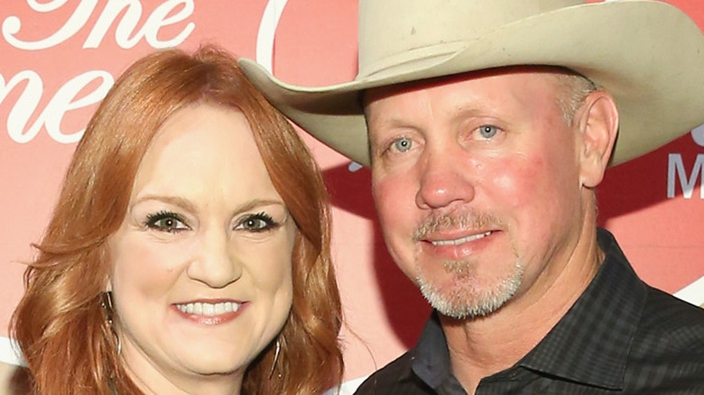 Ree Drummond and Ladd Drummond smiling