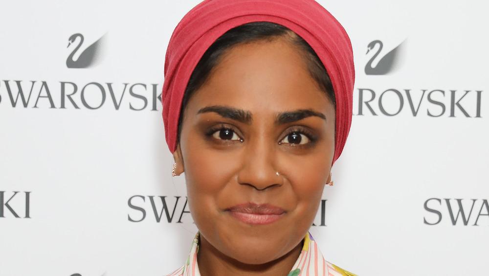 Nadiya Hussain smiling on red carpet