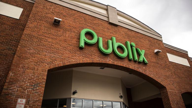 Outside a Publix store
