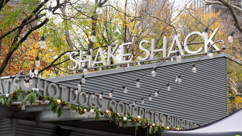 Outside a Shake Shack restaurant
