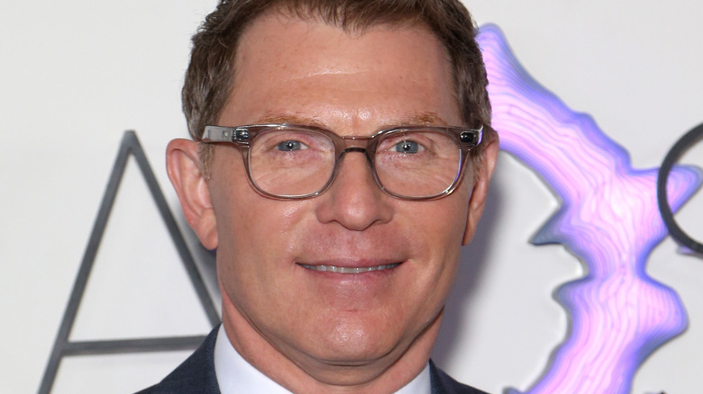 A close-up of celebrity chef Bobby Flay