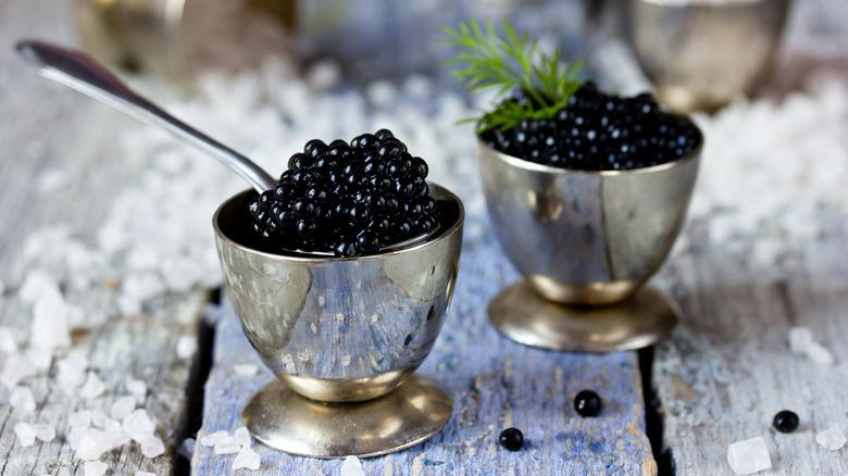caviar being served