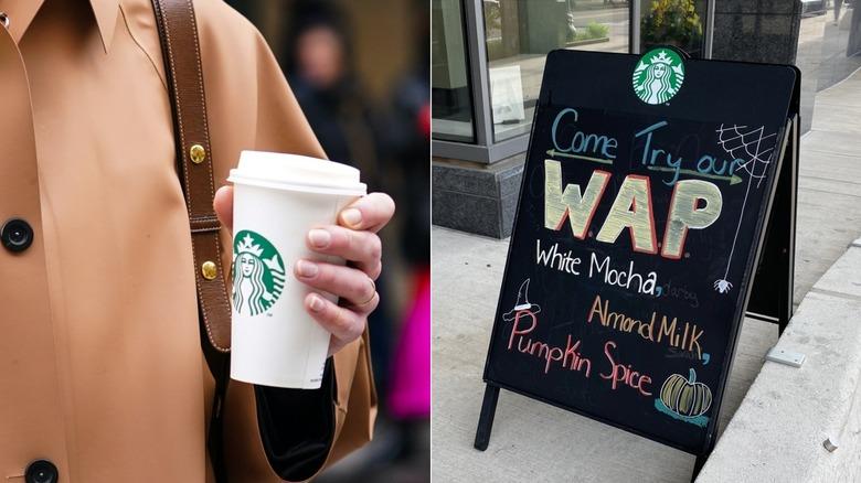 Woman with a WAP latte