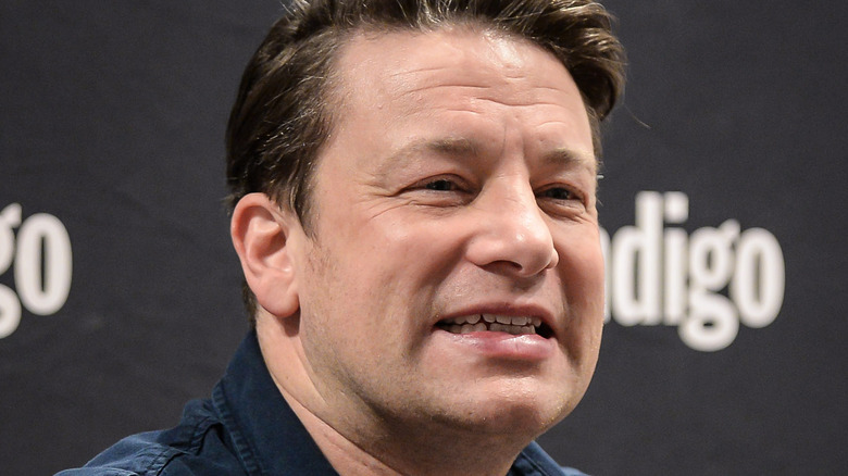 Jamie Oliver making a neutral face
