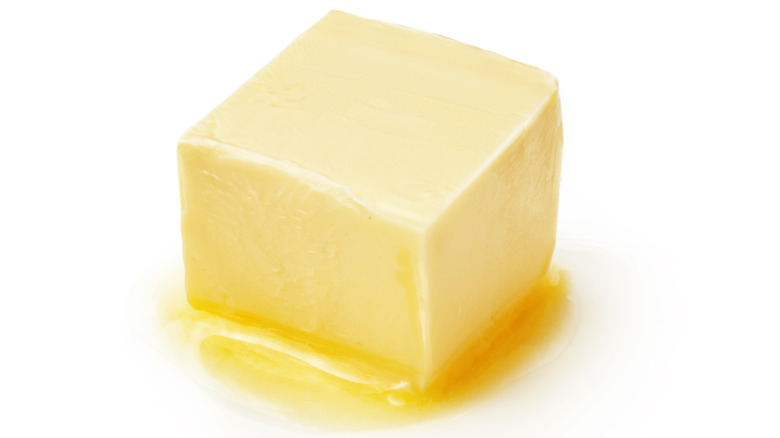 Melting cube of butter