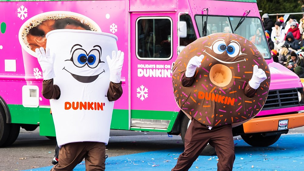 Dunkin Donuts coffee and donut mascots