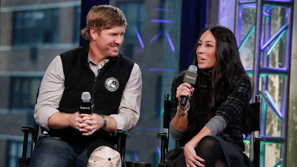 Chip and Joanna Gaines giving interview