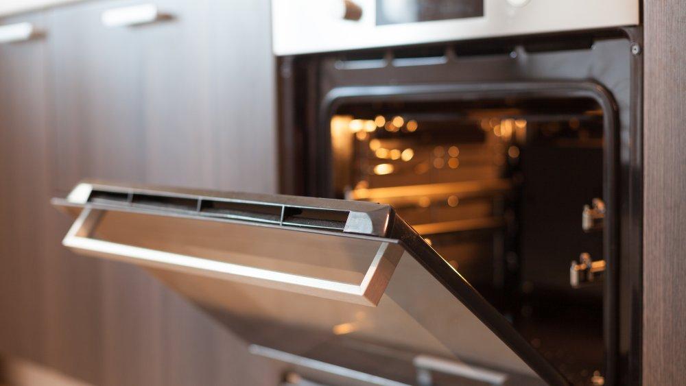 oven with door open