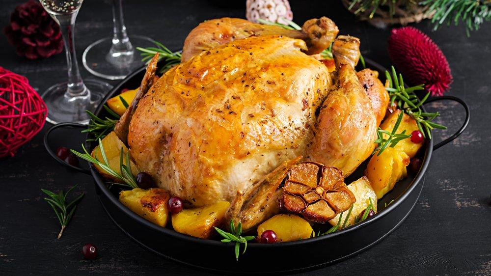 turkey on a platter