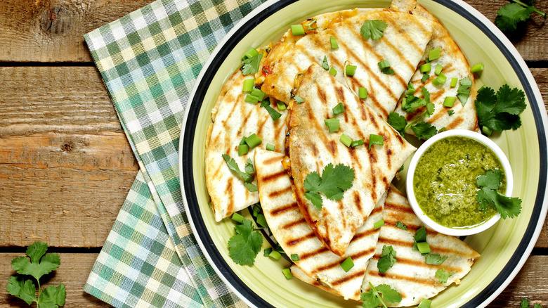 Homemade quesadillas