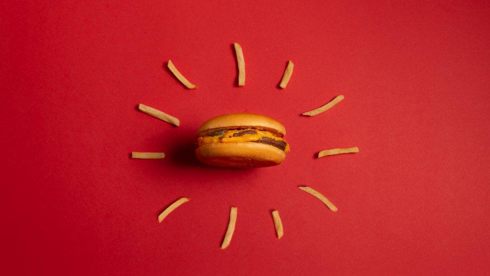McDonald's burger and fries