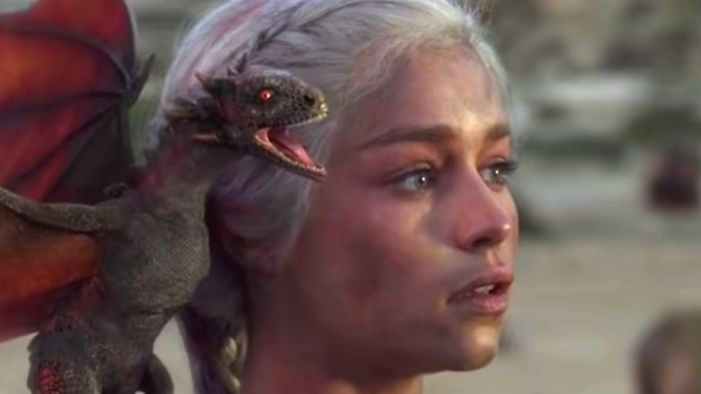 Daenerys Targaryen with dragon