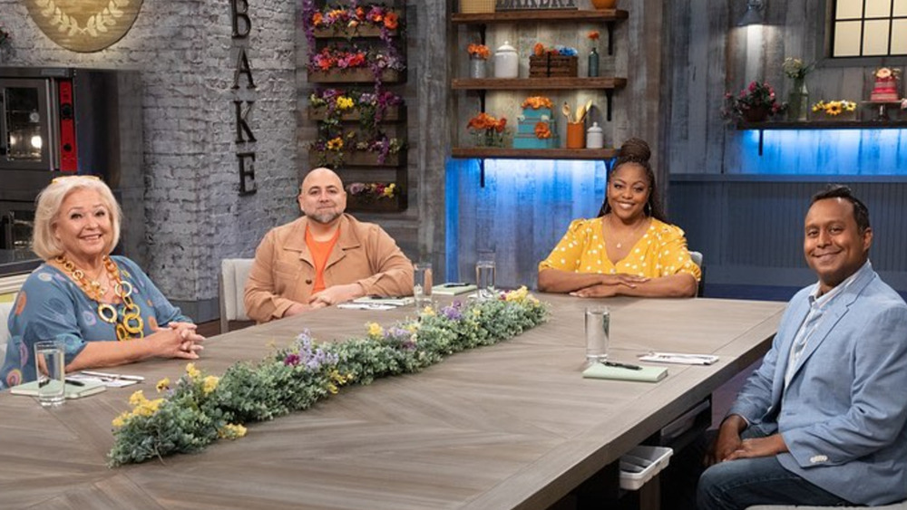 Spring Baking Championship host and judges