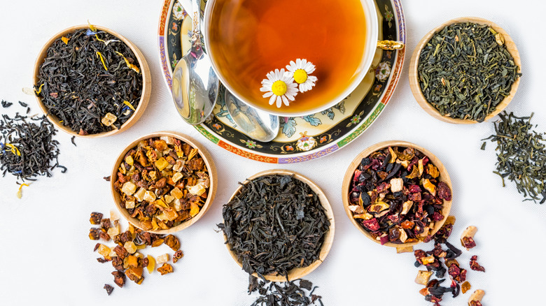 Black tea with herbs and flowers