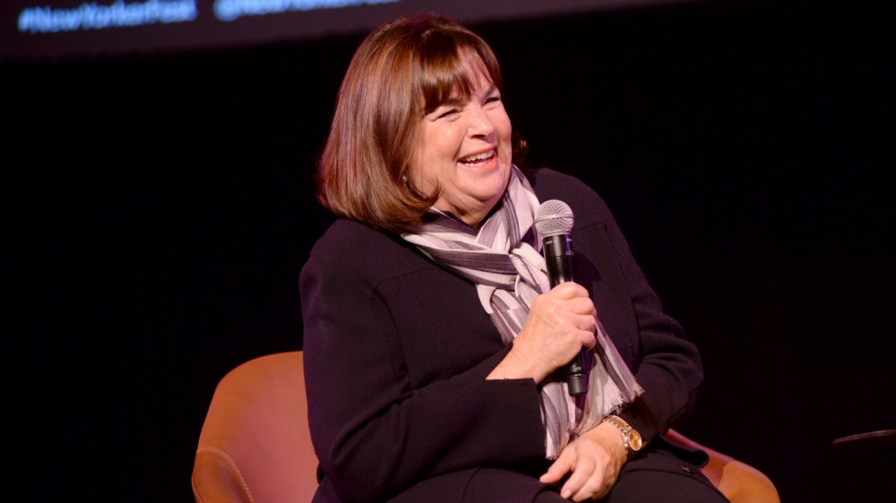 Ina Garten speaks at an event