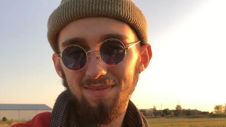 Micah Yaroch in sunglasses