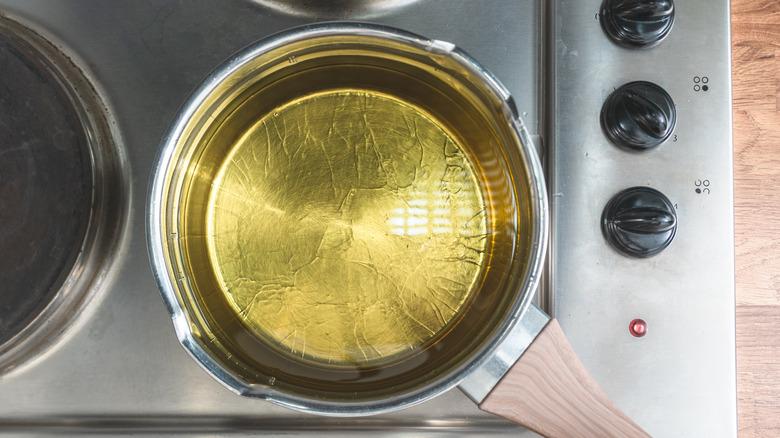 Pot of frying oil