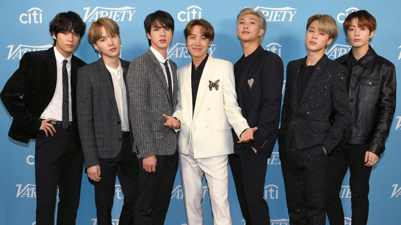 BTS band members wearing suits
