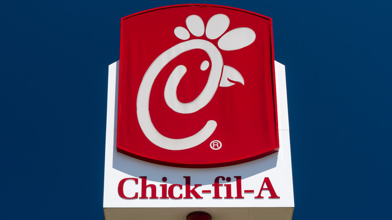 Chick-fil-A sign with logo