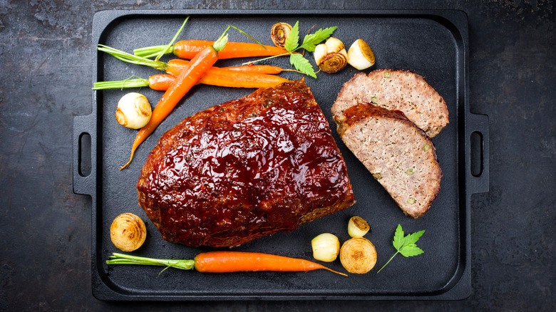 Meatloaf on a tray