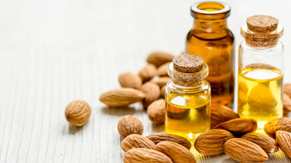 bottles of almond oil and extract