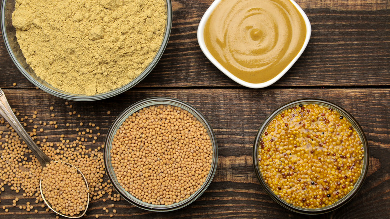 Mustard in various forms