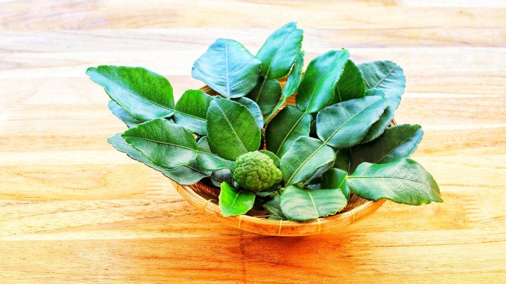 kaffir lime leaves, lime leaves