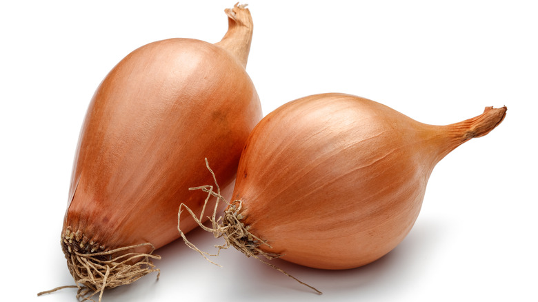 Two whole shallots