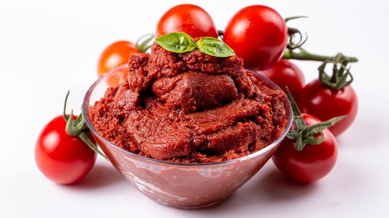 Tomato Paste with fresh tomatoes