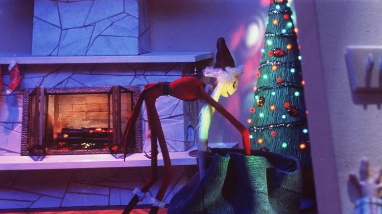 Jack Skellington in Santa garb