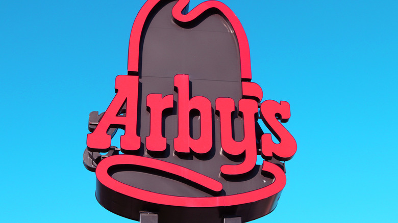 Arby's sign with blue sky