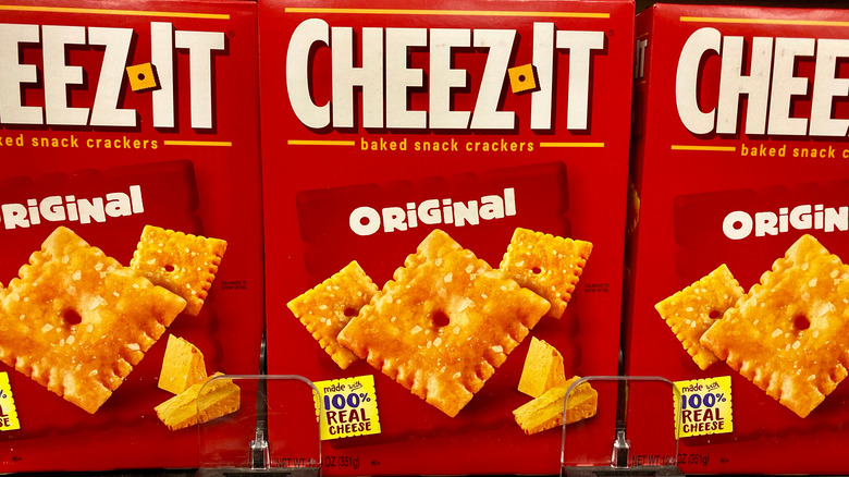 Cheez-Its on store shelf